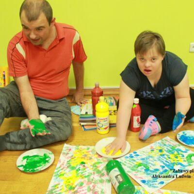 Aleksandra Ludwin- WTZ Caritas Gorlice Zabawy plastyczne 2