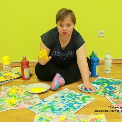 Aleksandra Ludwin- WTZ Caritas Gorlice Zabawy plastyczne