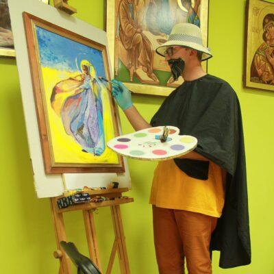 Potr Mruk- WTZ Caritas Gorlice Pandemiczny artysta